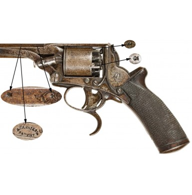 New Orleans Hyde & Goodrich Retailer Marked 3rd Model Tranter Revolver - Rare