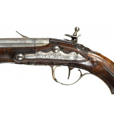 Silver Mounted French Flintlock Coat Pistols by Mollet
