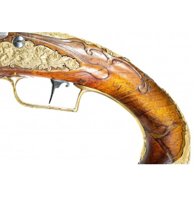 Beautiful Pair of 18th Century Flintlock Holster Pistols by Petter of Vevay