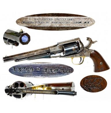 Fine Martially Marked Remington Old Model 1861 Navy Revolver