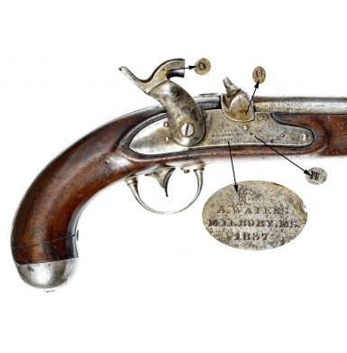 Confederate Brazed Bolster Altered US M1836 Pistol - Likely by D.C. Hodgkins of Macon