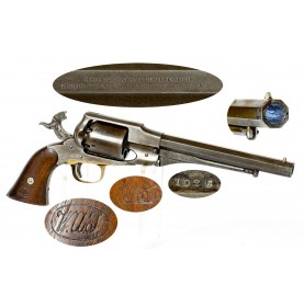 Martially Marked Remington Beals Army Revolver - Scarce