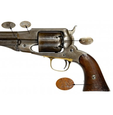 Martially Marked Remington Beals Army Revolver - Scarce