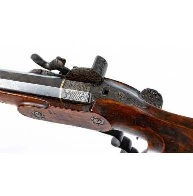 Fine Percussion Austrian Schuetzen Rifle by Bartusch of Vienna