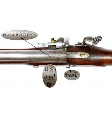 North Carolina Marked US Model 1822 Flintlock Musket by Pomeroy