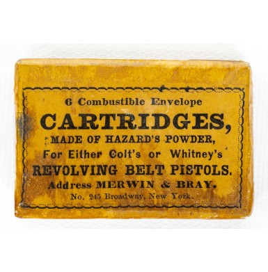 Merwin & Bray Marked Pack of .36 Caliber Combustible Cartridges