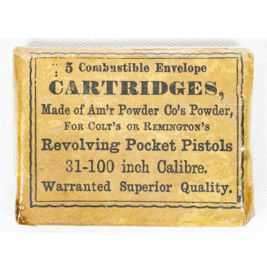 American Powder Company Packet of 5 Pocket Revolver Cartridges