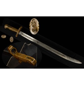 """US 1855 Pattern Saber Bayonet for Harpers Ferry Altered M1841 """"Mississippi"""" Rifles"""