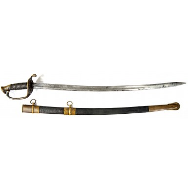 Confederate Leech & Rigdon Style Confederate Foot Officer's Sword Attributed to Louis Bissonnet