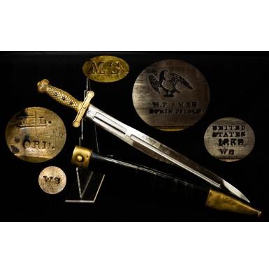 Rare Massachusetts Marked Ames Model 1832 Foot Artillery Sword