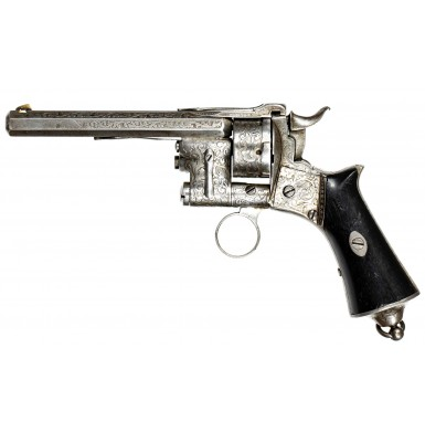 Rare French LePage Moutier Model 1858 9mm Cartridge Revolver