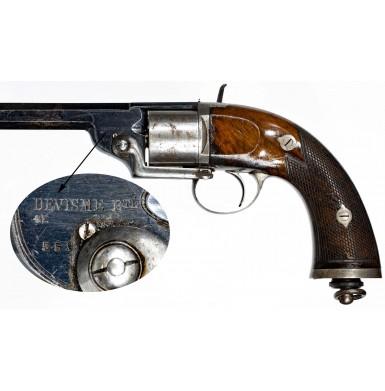 Fine & Scarce Devisme Model 1854/55 12mm Cartridge Belt Revolver