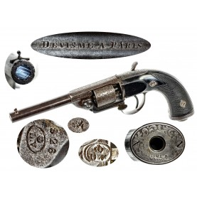 Engraved Devisme M1854/55 Pocket Percussion Revolver