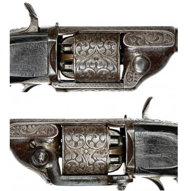 Engraved Devisme M1854/55 Pocket Percussion Revolver