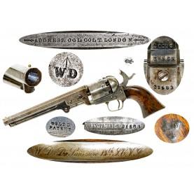 Rare Crimean War British Military Colt Model 1851 Navy Revolver with Interesting Inscription