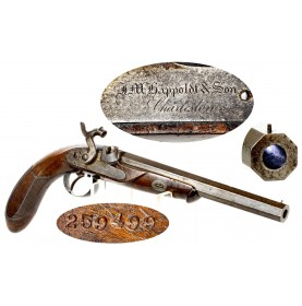 South Carolina Percussion Dueling Pistol by JM Happoldt of Charleston