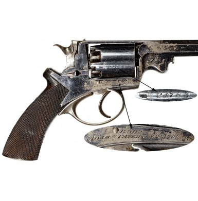 Francis Tomes & Sons of New York Retailer Marked Beaumont-Adams Revolver