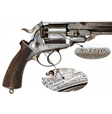 """Alexander Henry Retailer Marked Pryse & Cashmore """"Daw"""" Revolver with Very Rare Topstrap"""