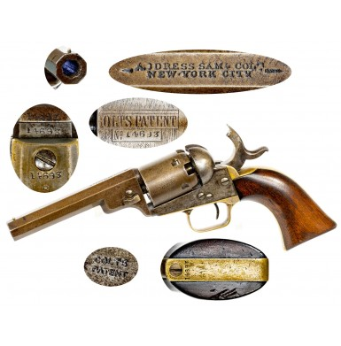 "Extremely Rare 4-inch Colt M1849 ""Wells Fargo"" Pocket Revolver - ex-Locke Collection"
