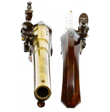 Attractive Brass Barreled Flintlock Holster Pistol by John Richards of London