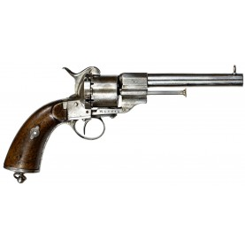 Extremely Rare Swedish Naval Model 1863 Pinfire Revolver - Only 890 Issued