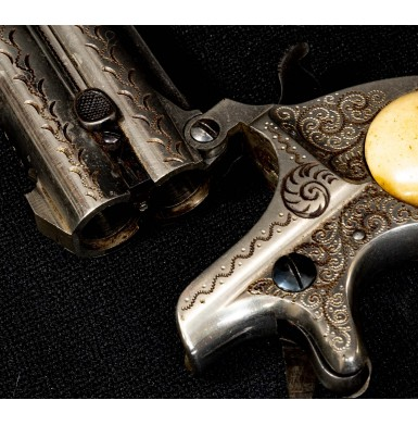 Factory Engraved Remington Model 95 Over & Under Double Derringer