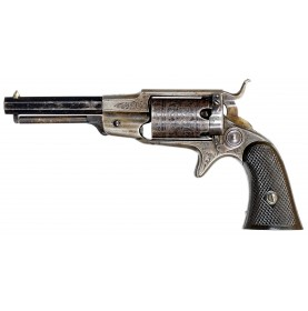 Fine Factory Engraved 3rd Model Remington-Beals Pocket Revolver