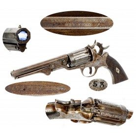 Extremely Scarce Factory Engraved Walch 12-Shot Navy Revolver