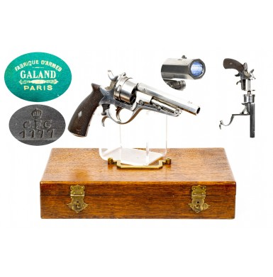 Cased French Model 1868 Galand 12mm Revolver