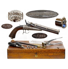 Very Rare & Fine Fully Cased Colette Gravity Pistol