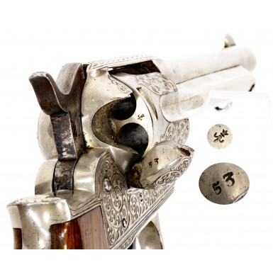 Fine Factory Engraved Spanish Made Colt Model 1877 Revolver by Orbea Hermanos