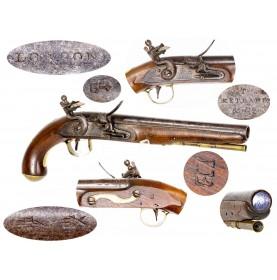 War of 1812 Period Canadian Militia Light Cavalry Pistol Marked T. Ketland & Co