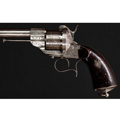 Fine Engraved 12mm French Model 1854 Lefaucheux Revolver