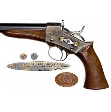 Outstanding US Model 1871 Remington Rolling Block Army Pistol