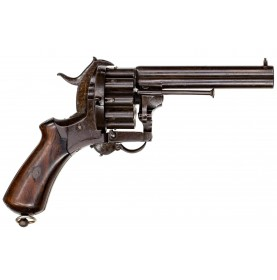 "Rare 20-Shot Lefaucheux ""High Capacity"" Pin Fire Revolver"