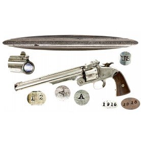 Extremely Rare Nickel Smith & Wesson Martial #3 1st Model American - Only 200 Delivered in Nickel!
