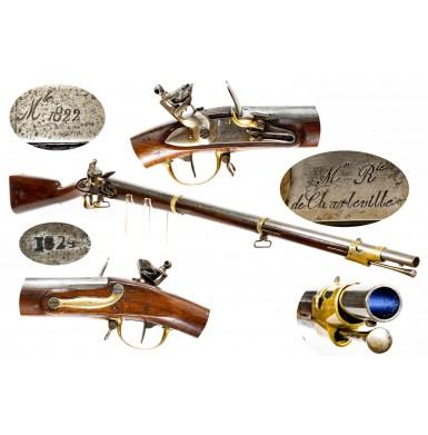 Fine French Model 1822 Artillery Musket in Original Flint
