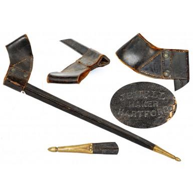 """Fine US Pattern of 1859 """"2 Rivet"""" Socket Bayonet Scabbard by Jewell"""