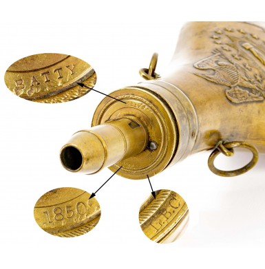 Fine 1850 Dated Batty Peace Flask