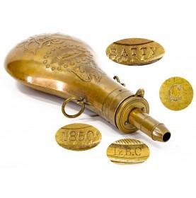 Fine 1850 Dated Batty Peace Flask