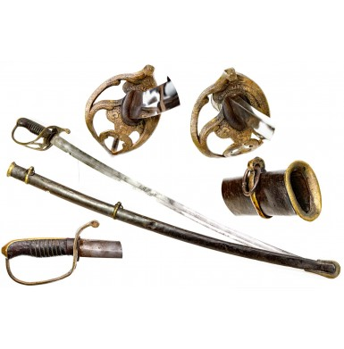 Fine Nashville Plow Works Cavalry Officers Saber from the Ashely Halsey Jr. Collection