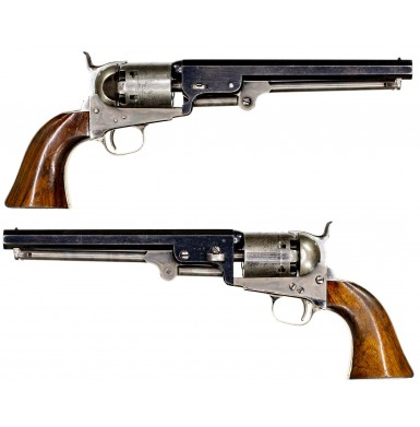 Extremely Fine Belgian Brevet 2nd Model Style Colt Navy Revolver Made With Many Original Colt Parts
