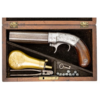 Cased Bacon & Co Underhammer Pepperbox