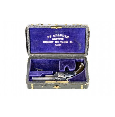 French Retailer Marked & Cased Smith & Wesson Model 1 3rd Issue - Very Fine & Rare