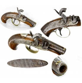 Very Fine JE Evans Peanut Sized Philadelphia Derringer Pistol