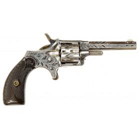Excellent Factory Engraved Hopkins & Allen Blue Jacket Revolver