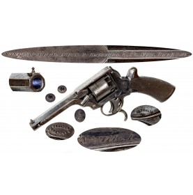 Scarce A.B. Griswold New Orleans Retailer Marked 3rd Model Tranter Revolver