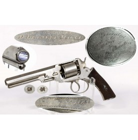 Inscribed Webley Wedge Frame Revolver to Lt. Horace Chevallier of the 1st NY Light Marine Artillery