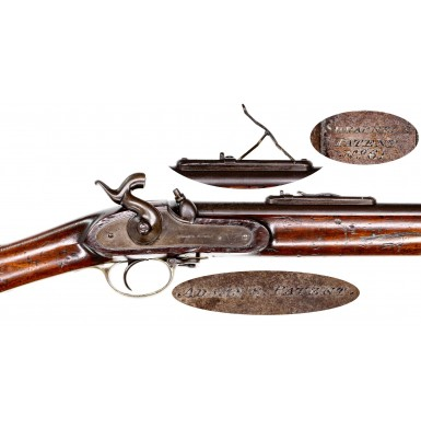 Extremely Rare Adams' Patent British Military Musket with Shrapnel Patent Rear Sight