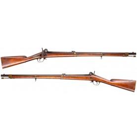 Extremely Rare Belgian Made Spanish Contract Percussion Rifle: Carabina Rayada Modelo Belga